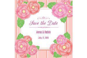 Invitation template. Save the date