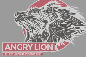 AngryLion - Vector Illustration