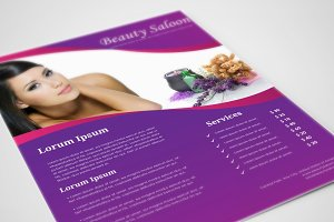 Beauty Salon Flyer Template