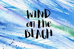 wind on the beach