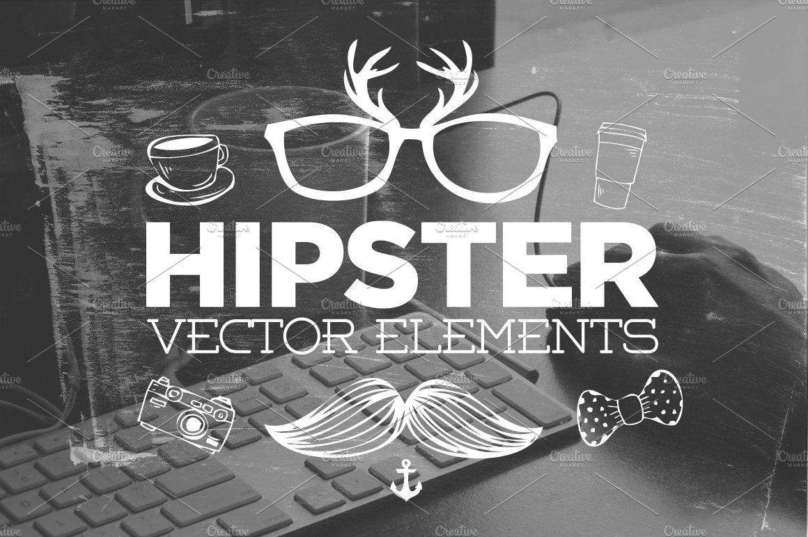 30 handsketched hipster vectors illustrations creative market