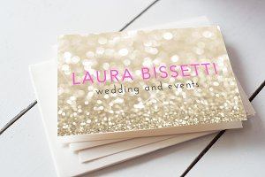 Glitter Business Card