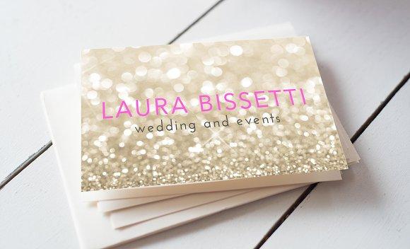 Glitter business card business card templates creative market colourmoves