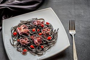 Black pasta