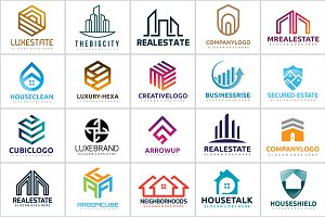 20 Real Estate & House Abstract Logo