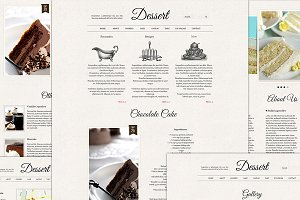 Dessert Retro psd files website