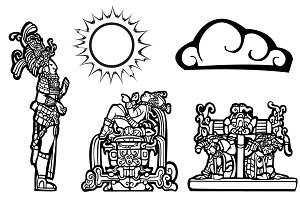 Mayan Lords with a Sun & Cloud Spots
