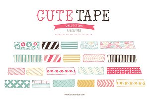 Cute Tape (Clipart)