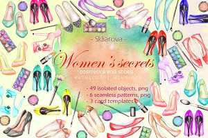 Women's secrets, watercolor set