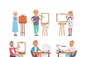 Creative people vector character