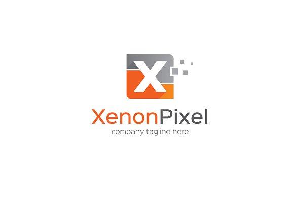 Xenon Pixel Letter X Logo Creative Illustrator Templates Creative Market