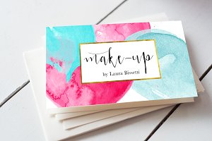 Watercolour Business Card
