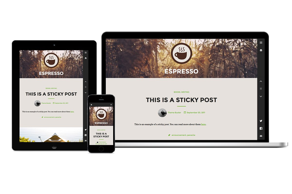 Espresso in WordPress Blog Themes - product preview 8