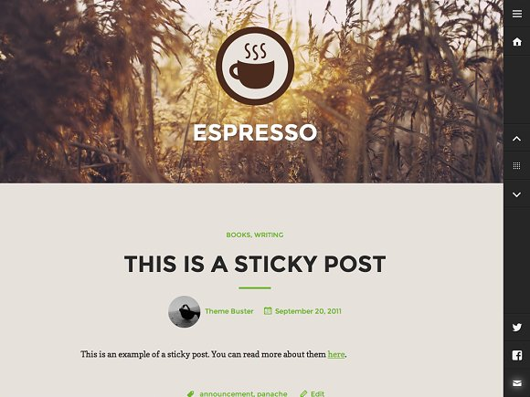 Espresso in WordPress Blog Themes