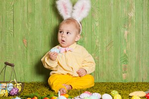 Easter rabbit toddler