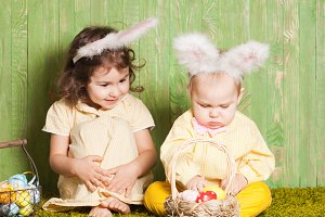 Easter rabbits babies
