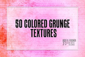 50 Colored Grunge Textures