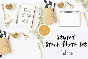 Styled Stock Photo Set - Golden