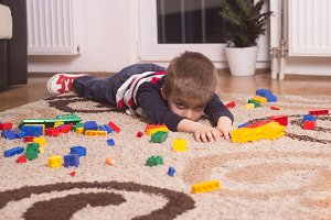 kid ashamed, embarrassed floor