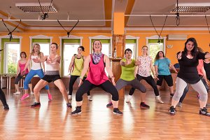 Group of women training fitness