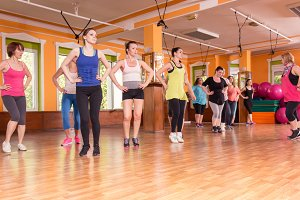 training instructor women indoors