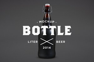 Liter Beer Mock-Up