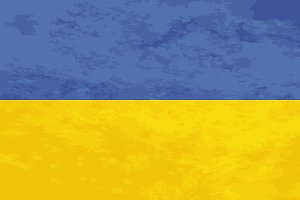 True proportions Ukraine flag