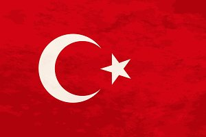 True proportions Turkey flag