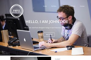 Papel - Single page portfolio theme