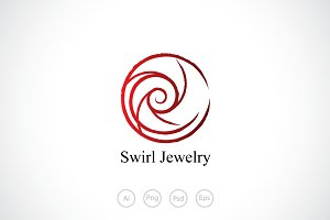 Swirl Circle Logo Template