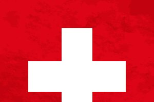 True proportions Switzerland flag