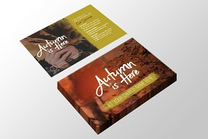 Autumn Is Here Large Invite Card