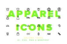 Clothes & Apparel Icons Vol 03