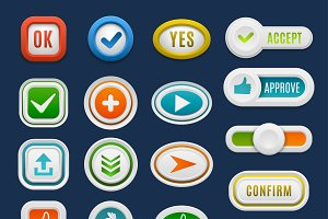 Web buttons vector set