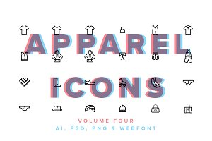 Clothes & Apparel Icons Vol 04