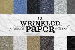 12 Tileable Wrinkled Paper Patterns