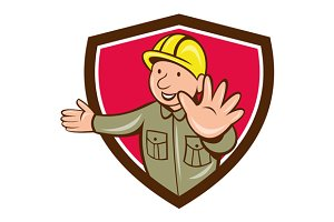 Builder Hand Stop Signal Crest