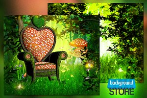 Magic Garden Background