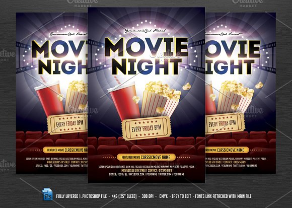 Movie night flyer movie night flyer maxwellsz