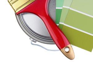 Closeup of Painting Supplies