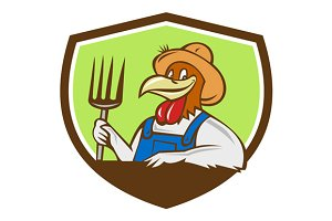 Chicken Farmer Pitchfork Crest