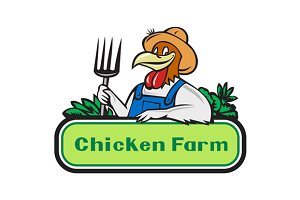 Chicken Farmer Pitchfork Vegetables