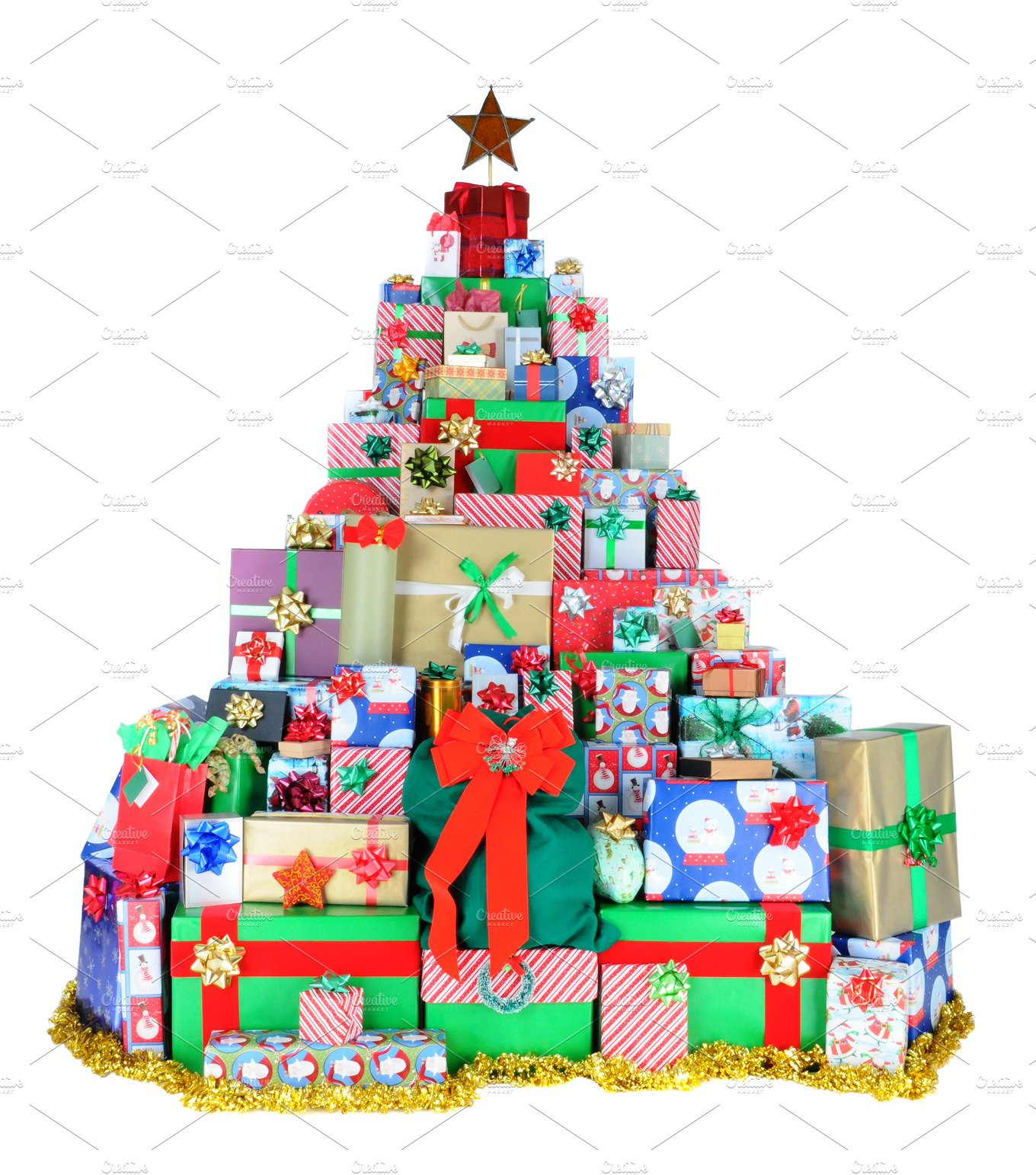 Picture Of Christmas Tree With Presents: Christmas Tree Of Presents