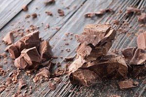 Handmade chocolate pieces
