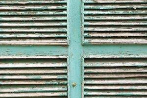 wooden shuttered window