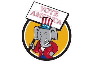 Republican Elephant Mascot Vote