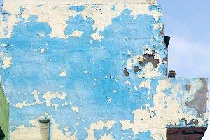 badly damaged facade