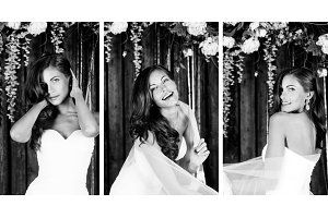 Beautiful bride. Set of 3 images.