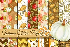 Autumn glitter patterns