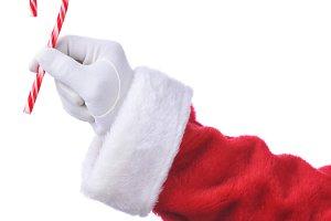 Santa Hanging Candy Cane